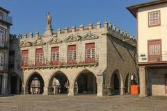 大厅老城镇 吉马朗伊什 葡萄牙 免版税库存照片