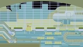 大厅背景在机场 库存照片