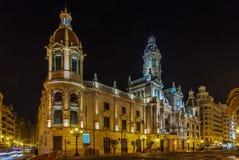 大厅西班牙城镇巴伦西亚 免版税图库摄影