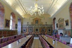 大厅,基督教会学院,牛津 免版税库存图片