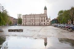 大厅kazimierz城镇 库存图片