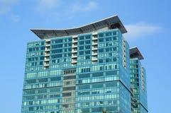 大厦上面在商业中心 免版税库存照片