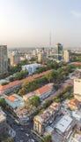 从大厦上面的胡志明市视图  图库摄影