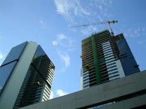 大厦下企业建筑 免版税库存照片