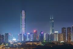 大厦中心瓷城市五颜六色的原始住宅深圳 免版税库存照片