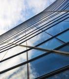 大厦云彩玻璃高层天空 库存照片