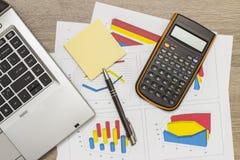 大厦企业图表金融期货 免版税库存照片
