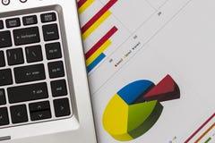 大厦企业图表金融期货 图库摄影