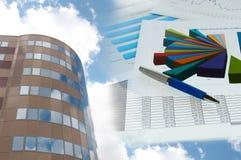 大厦企业拼贴画办公室官员纸张 免版税库存照片
