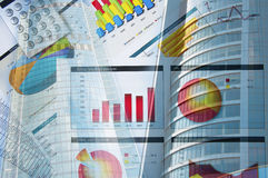 大厦企业拼贴画纸张 免版税图库摄影