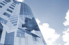 大厦企业财务图表的拼贴画 免版税库存图片