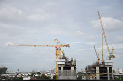 大厦企业建造场所在Nonthaburi,泰国 免版税库存照片