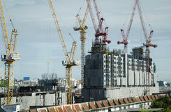 大厦企业建造场所在Nonthaburi,泰国 免版税库存图片