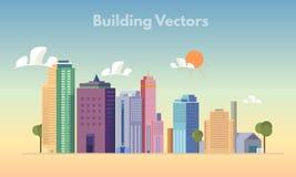 大厦传染媒介颜色 免版税图库摄影