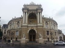 大厦傲德萨歌剧剧院乌克兰 库存照片