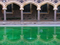 大厦克赖斯特切奇历史记录镜子 免版税库存照片