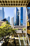 大厦入口玻璃现代 免版税库存照片