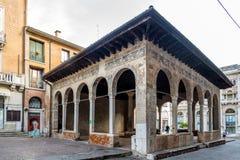 大厦凉廊dei Cavalieri在特雷维索 免版税库存图片