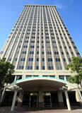 大厦办公室修整绿松石 免版税库存图片