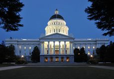 大厦加利福尼亚国会大厦状态 免版税图库摄影