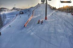 大厦区椭圆表单做外面滑雪表面 免版税图库摄影