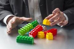 大厦和创造性的概念在工作 免版税图库摄影