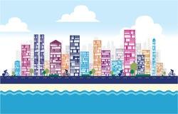 大厦和城市例证 库存图片