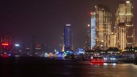 大厦和建筑学与都市摩天大楼在上海,中国现代区  免版税库存图片