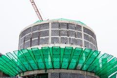 大厦和建造场所白色背景的 免版税库存图片