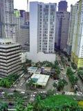 大厦和摩天大楼Ortigas复合体的在帕西格市,马尼拉,菲律宾 图库摄影