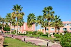 大厦和豪华旅馆的度假区 库存图片