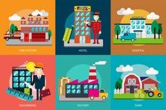 大厦和建筑 免版税库存图片