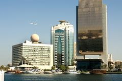 大厦团结的迪拜现代 免版税图库摄影
