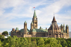 大厦图书馆渥太华议会 图库摄影