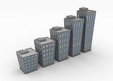 大厦图表 免版税库存图片
