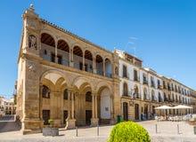 大厦在五一镇de马约角地方在宇部-西班牙 免版税库存照片
