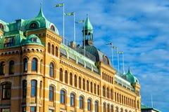 大厦在哥特人-瑞典的历史的中心 库存照片