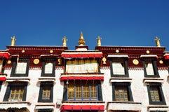 大厦在哲蚌寺 免版税库存图片