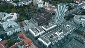 大厦在奥得河中心的法兰克福,鸟瞰图 德国 股票视频