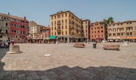 大厦在威尼斯,意大利 库存图片