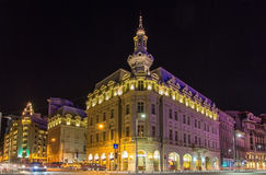大厦在布加勒斯特市中心 库存图片