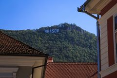 大厦在布拉索夫市,罗马尼亚 免版税库存照片