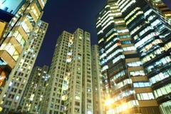 大厦在晚上 免版税图库摄影