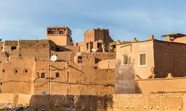 大厦在瓦尔扎扎特,一个城市在中南部的摩洛哥 免版税库存照片
