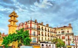 大厦在老镇康斯坦丁,阿尔及利亚 免版税库存照片