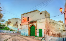 大厦在老镇萨菲,摩洛哥 免版税库存照片