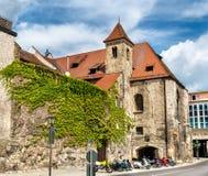 大厦在老镇雷根斯堡,德国 免版税库存照片