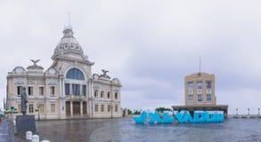 大厦在萨尔瓦多,巴伊亚,巴西 免版税库存照片