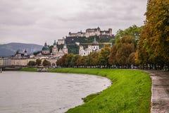 大厦在萨尔茨堡奥地利 库存图片
