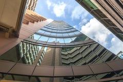 大厦在蓝天泰国背景中  免版税图库摄影